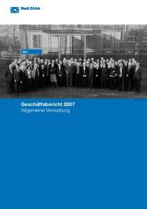 Allgemeine Verwaltung. Bild: Stadtkanzlei. Geschäftsbericht Allgemeine Verwaltung
