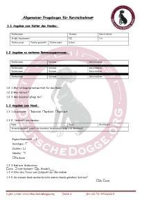 Allgemeiner Fragebogen für Kursteilnehmer