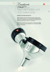 Allgemeinmedizin und HNO Instrumente
