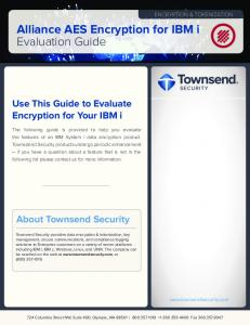 Alliance AES Encryption for IBM i Evaluation Guide