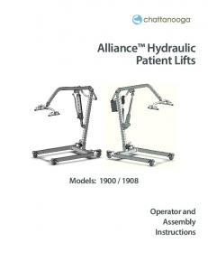 Alliance Hydraulic Patient Lifts