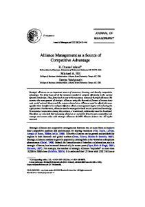 Alliance Management as a Source of Competitive Advantage