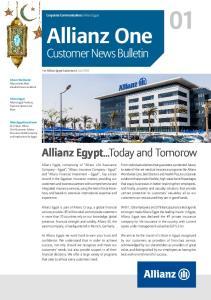 Allianz One. Customer News Bulletin