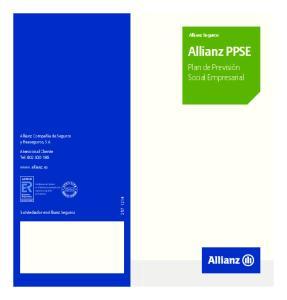 Allianz Seguros Allianz PPSE