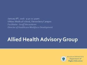 Allied Health Advisory Group