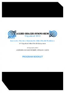 ALLIED HEALTH SYMPOSIUM