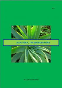 ALOE VERA, THE WONDER HERB
