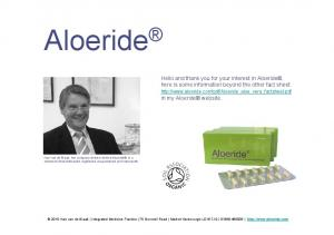 Aloeride Hello and thank you for your interest in Aloeride,