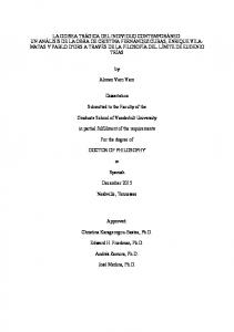 Alonso Varo Varo. Dissertation. Submitted to the Faculty of the. Graduate School of Vanderbilt University. in partial fulfillment of the requirements