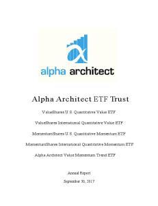 Alpha Architect ETF Trust