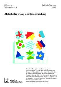 Alphabetisierung und Grundbildung