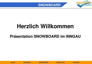 ALPIN NORDISCH SNOWBOARD FREESTYLE SKITOUR