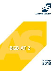 ALPMANN SCHMIDT BGB AT 2