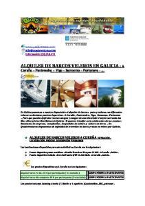 ALQUILER DE BARCOS VELEROS EN GALICIA : A
