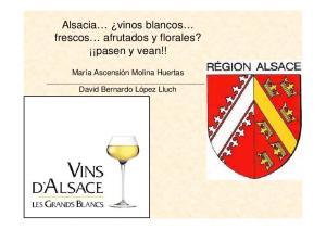 Alsacia vinos blancos frescos afrutados y florales? pasen y vean!!