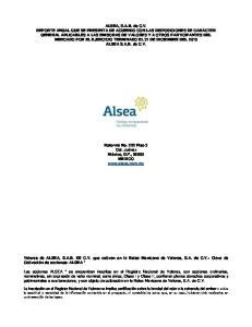 ALSEA S.A.B. de C.V