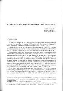ALTAR PALEOCRISTIANO DEL AREA EPISCOPAL DE VALENCIA *