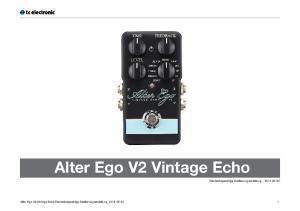 Alter Ego V2 Vintage Echo