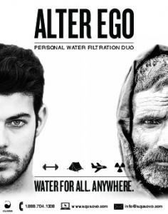 ALTER EGO WATER FOR ALL. ANYWHERE. PERSONAL WATER FILTRATION DUO