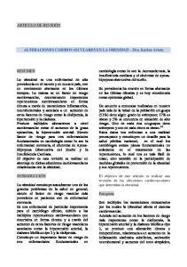 ALTERACIONES CARDIOVASCULARES EN LA OBESIDAD