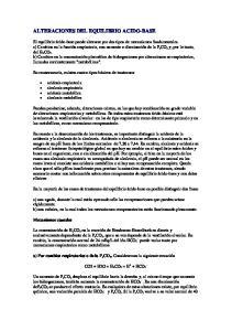 ALTERACIONES DEL EQUILIBRIO ACIDO-BASE