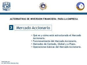 ALTERNATIVAS DE INVERSION FINANCIERA PARA LA EMPRESA