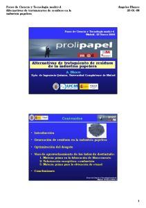 Alternativas de tratamiento de residuos de la industria papelera