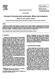 Alternative food-preservation technologies: efficacy and mechanisms