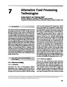 Alternative Food Processing Technologies