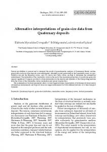 Alternative interpretations of grain-size data from Quaternary deposits