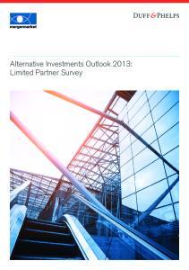 Alternative Investments Outlook 2013: Limited Partner Survey