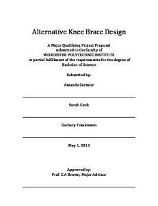 Alternative Knee Brace Design