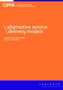 alternative service delivery models