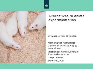 Alternatives to animal experimentation