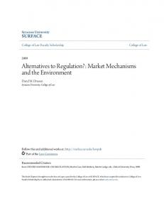 Alternatives to Regulation?: Market Mechanisms and the Environment