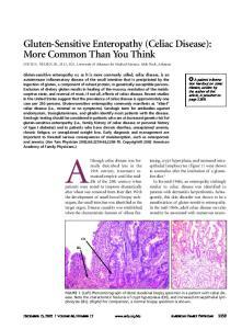 Although celiac disease was formally