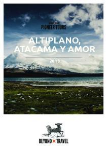 ALTIPLANO, ATACAMA Y AMOR