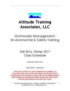 Altitude Training Associates, LLC