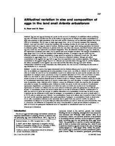 Altitudinal variation in size and composition of eggs in the land snail Arianta arbustorum