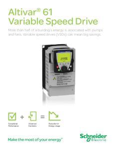 Altivar 61 Variable Speed Drive