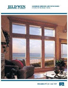 aluminum windows and patio doors A Guide for Southeast Homes