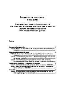ALUMNADO DE DOCTORADO