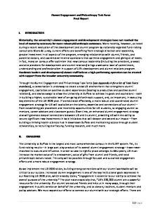Alumni Engagement and Philanthropy Task Force Final Report