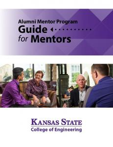 Alumni Mentor Program. Guide. for Mentors