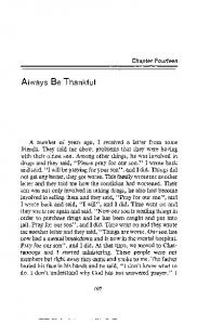 Always Be Thankful. Chapter Fourteen