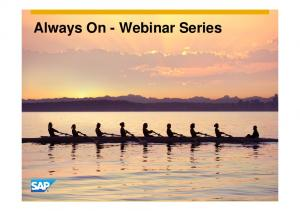 Always On - Webinar Series