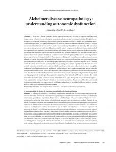 Alzheimer disease neuropathology: understanding autonomic dysfunction
