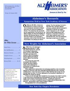 Alzheimer s Research:
