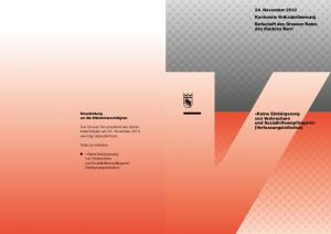 am 24. November 2013 Kantonale Volksabstimmung Botschaft des Grossen Rates des Kantons Bern