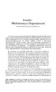 Amalia: Melodrama y Dependencia